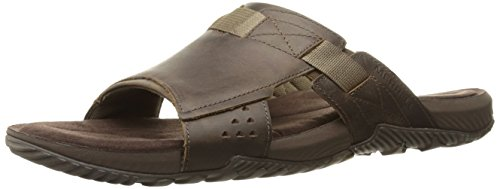 Merrell Men's Terrant Slide Sandal, Dark Earth, 11 M US (Casual Slides Leather)