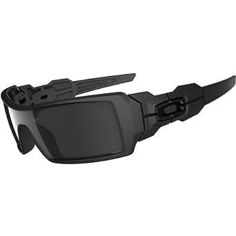 b4390fbcaa Oakley Men's Oil Rig Iridium Sunglasses,Matte Black Frame/Black Lens,one  size