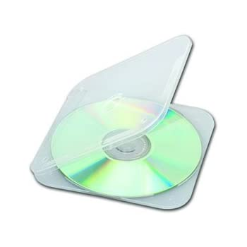 DiscSavers Slim CD DVD Case Clear 50 Count By Unknown