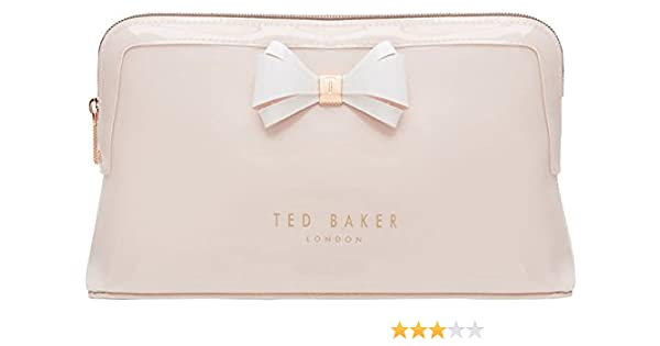 85fce562fae0 Amazon.com  Ted Baker London Abbie Curved Bow Cosmetic Travel Wash Bag (Mid  Pink)  Shoes