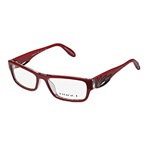 Koali 7200k Womens/Ladies Optical Designer Designer Full-rim Eyeglasses/Eyeglass Frame (51-16-135, Red / Clear)