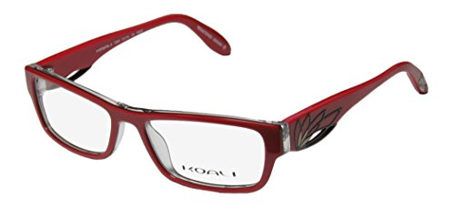 Koali 7200k Womens/Ladies Optical Designer Designer Full-rim Eyeglasses/Eyeglass Frame (51-16-135, Red / - Frames Prescription Red Glasses