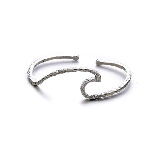 - Gyoume Women Chain Bracelet Hand Decoration Jewelry Women Waves Punk Cuff Bracelet Bangle Chain Wristband Jewelry (Sliver)