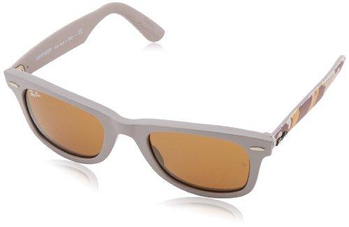 Ray-Ban RB2140 Wayfarer Sunglasses, Matte Beige/Brown, 50 ()
