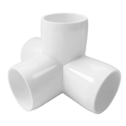 4 Way 1inch Tee PVC Fitting Elbow 1in - Build Heavy Duty PVC Furniture - PVC Elbow Fittings [Pack of 8] by SELLERS360 (Image #1)