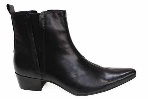 Gucinari - Botas de Piel para hombre Negro negro, color Negro, talla 44: Amazon.es: Zapatos y complementos