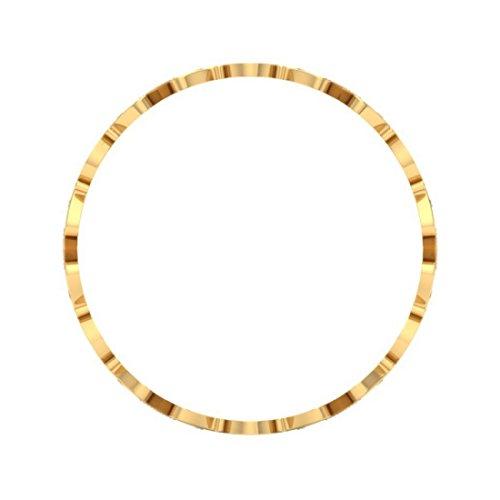 18K jaune doré, 2.26CT TW Round-cut-diamond (Ij| SI) Bangle-bracelets