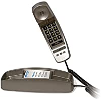 Med-Pat Slimline Corded Amplified Telephone Metallic (Pewter) Color