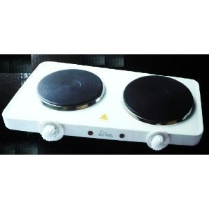 Charmant EUROSONIC Portable Electric Cooking Hob Twin Double Hot Plate Stove 2500W Table  Top