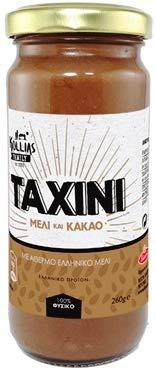 Tahini with Unheated Greek Honey and Cocoa 260gr / Tahini Con Miel Griega Sin Calentar y