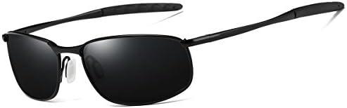 FEIDU Sonenbrille für Mäner Stilvolle HD Objektiv Metallrahmen Sonenbrille FD 9005