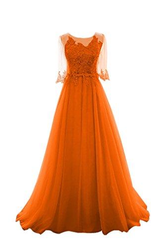 Lang Abendkleider Ballkleider Spitze Damen Damen Hochwertig Celebrity Grau Orange Charmant Hell Damenmode 7wWTHvZ7q