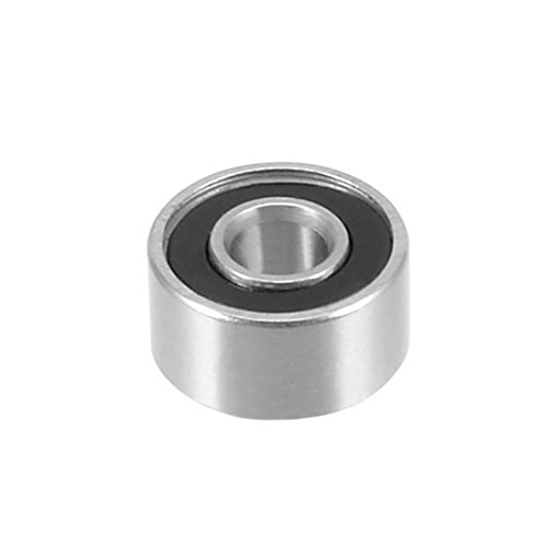 uxcell 10pcs 697RS 7mmx17mmx5mm Double Sealed Miniature Deep Groove Ball Bearing