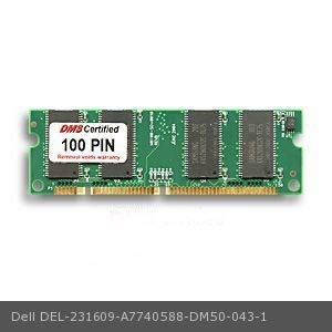 DMS Compatible/Replacement for Dell A7740588 1600n 128MB DMS Certified Memory 100 Pin SDRAM 3.3V, 32-bit, 1k Refresh SODIMM (16X8) - DMS