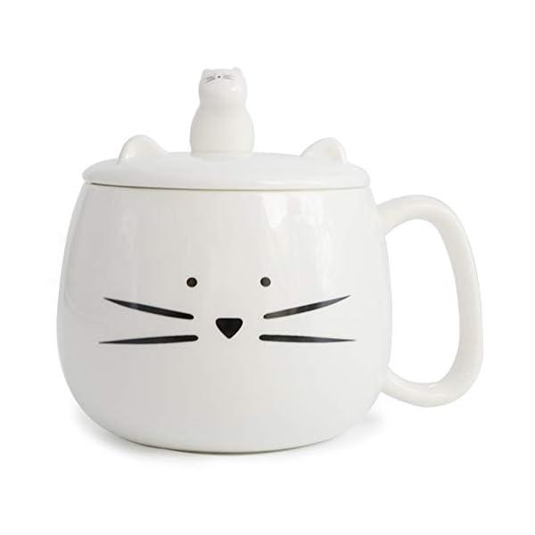 Taza de gato con soporte para celular de Koolkatkoo | Letras y Latte - Libros en español y café