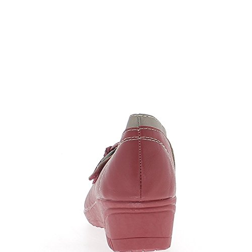 4cm Donna Di Confine Bronzo Tacco Rosso Comfort Scarpe 07wvZqOH