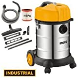 Toolscentre Industrial 30L Metal Body Vacuum Cleaner Wet & Dry Powerful 1400W Motor.