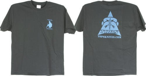 Tops Knives T-Shirt Blue Black XXL, XXL - Berkshire Wire Shopping Results