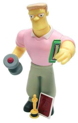 Arnold Schwartzenegger Simpsons Rainier Wolfcastle Figure Playmates