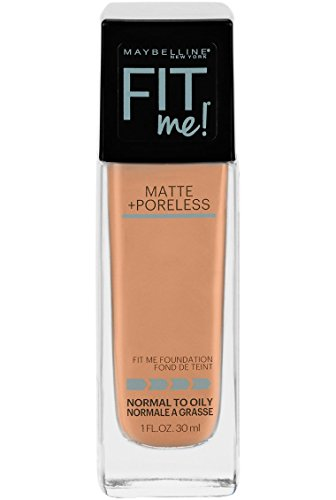 Maybelline New York Fit Me Matte + Poreless Liquid Foundation Makeup, Natural Tan, 1 fl. oz. Oil-Free Foundation