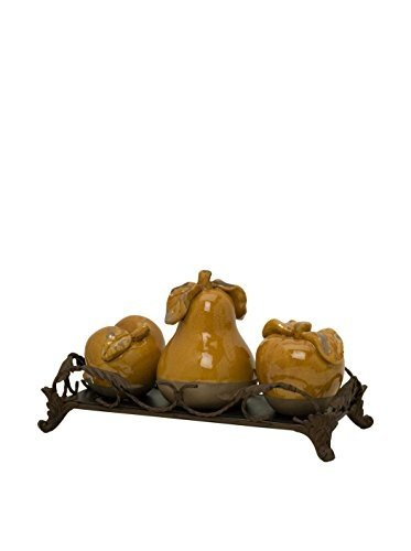 IMAX Italia Decorative Fruits with Tray, Set of 4 by Imax by Imax