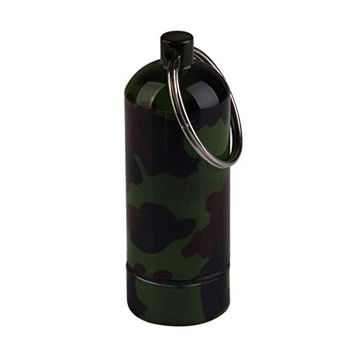 VT BigHome New Promotion Camouflage Print Aluminum Alloy Outdoor First Aid Small Gallipot Keychain Travel Kits (Keychain New Skateboard)