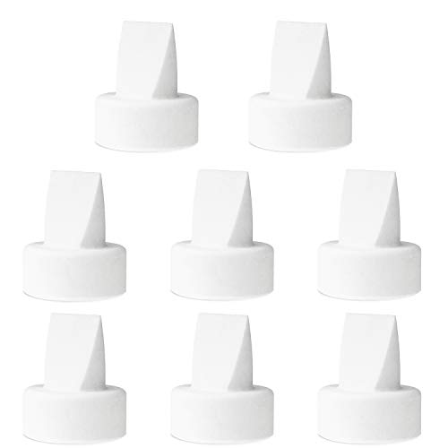 Nenesupply Compatible Duckbill Valves for Spectra S1 Accessories Spectra S2 9 Plus Breast Pump Not Original Spectra Pump Parts Not Original Spectra S2 Accesssories Replace Spectra Valves (8pc White)