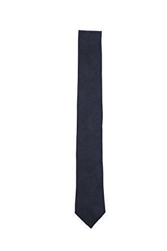 Hugo Boss Men's Silk Neck Tie (Solid Blue Geometric (Hugo Boss Silk)