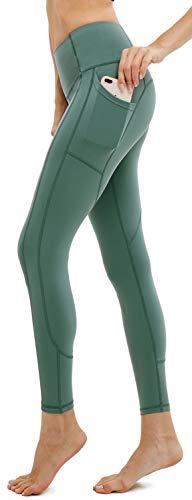 (Afitne Workout Leggings for Women with Pockets High, P31-Sage, Size Medium)