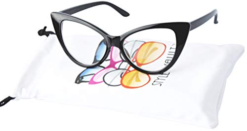 KD3137 Cat eye Baby infant toddlers Age 0-36 months Girls clear lens Glasses kids Sunglasses (Black-clear lens, smoked)]()