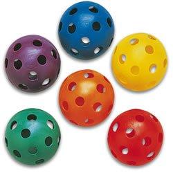 Plastic Play Balls - Baseball Size (Set of 6) (Big Play Balls)