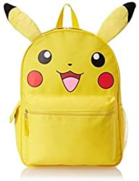 Pokemon Pikachu 3D Backpack Book Bag with Plush Ears - 16 Inches