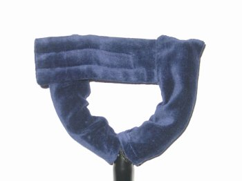 - Axe Hugger in Smooth Velvet for Standard Stand with Hugger Strap in Blue