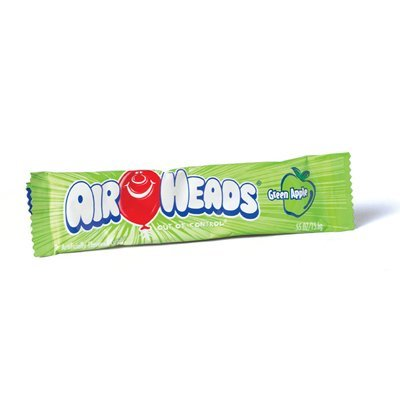 Airheads Green Apple Candy - .55 oz. Bar, 36 Pack Airheads Taffy Candy Bars