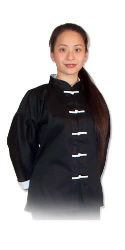 Tiger Claw Kung Fu Uniform 50//50 Blend Cotton All Black