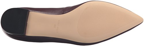 Nine West Womens Anastagia Leather Pointed Toe Flat Wine