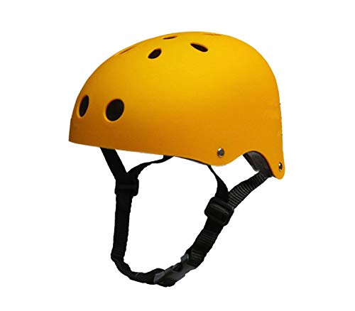 Tourdarson Adult Skateboard Helmet Specialized Certified Protection for Multi-Sports Cycling Skateboarding Scooter Roller Skate Inline Skating Rollerblading Longboard (Yellow, Medium)