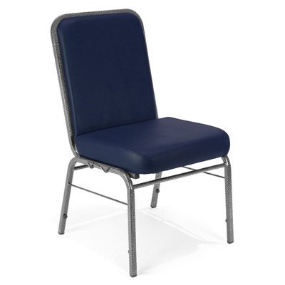 OFM Heavy Duty Stack Stacking Chair in Navy