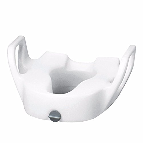 Premium Elevated Toilet Seat with Lock, With Arms, 19'' W between arms by Maddak Inc.