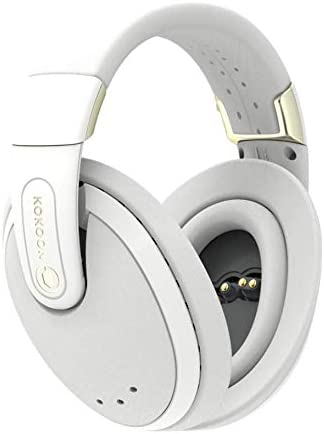 Kokoon Noise Cancelling Headphones with Bluetooth App for Sleep Aid Techniques and Relaxing Audio, Wireless Over Ear Headphones with Flexmould Comfort Ear Pads for Sleep, Relax and Travel Grey