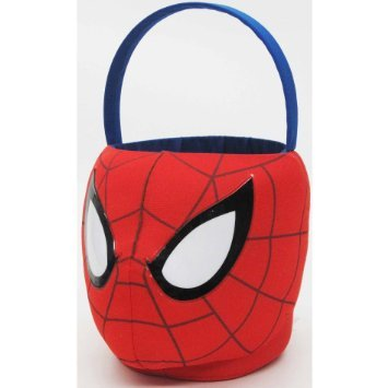 Small Plush Spiderman Basket for Halloween or Easter