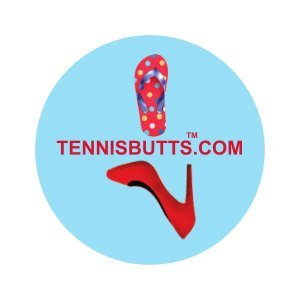 Tennis Butts - Fun Racket Decal That Starts Your Match Off with a Laugh! Perfect Tennis Gift (Flip Flops or Heels)