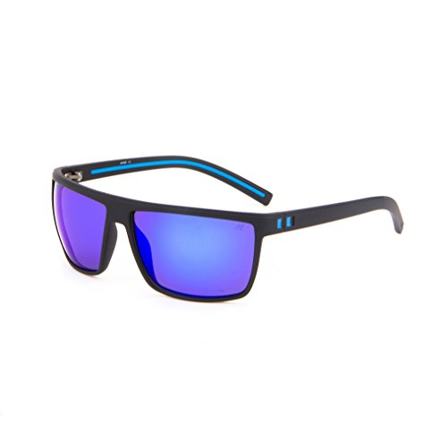 e160d9123d Tacloft Wayfarer 62mm Polarized Sunglasses TR008 (Black Blue Frame Revo  Blue Lens) by