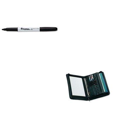 KITUNV07071UNV25650 - Value Kit - Universal Zip-Around Padfolio (UNV25650) and Universal Pen Style Permanent Markers (UNV07071)