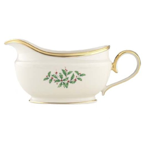 Lenox Holiday Gold-Banded Sauce Boat