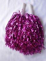 Pompones de animadora, para despedida de soltera o disfraz, color rosa fuerte, 5 pares W & G
