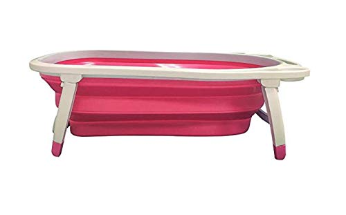 Midlee Portable Collapsible Dog Bathtub (Pink)