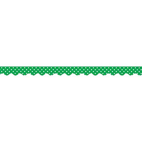 (Teacher Created Resources Green Polka Dots Scalloped Border Trim)
