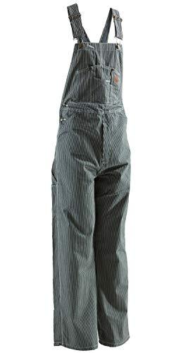 (Berne B1214 Men's Original Unlined Bib Overall, Hickory Stripe - 40W x 32L/R)