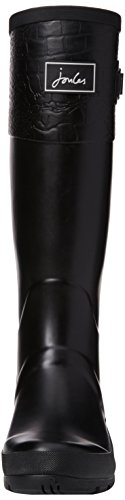 JoulesCavendish - Botas de lluvia mujer Black (Black Croc Block)